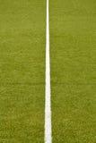 Tappeto erboso di gioco del calcio Fotografia Stock Libera da Diritti