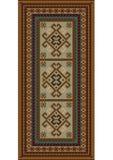Tappeto eterogeneo d'annata con gli ornamenti etnici e colore beige sul centro Fotografie Stock Libere da Diritti
