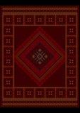 Tappeto orientale d'annata lussuoso con l'ornamento etnico Fotografie Stock