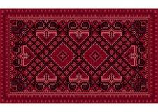 Tappeto orientale d'annata lussuoso con le tonalità marrone rossiccio Immagini Stock Libere da Diritti