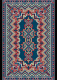 Tappeto orientale lussuoso d'annata nelle tonalitàdel pasteldel delicateFotografia Stock Libera da Diritti
