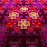 Tappeto orientale Modello su tessuto tappezzeria Illustrazione di Stock