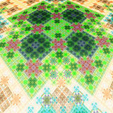 Tappeto orientale Modello su tessuto tappezzeria Royalty Illustrazione gratis