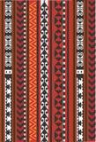 Tappeto ornamentale asiatico, rosso ed arancio, TAPPETO royalty illustrazione gratis