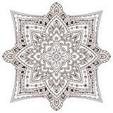 Tappeto ornamentale nello stile arabo Progettazione di arte del tatuaggio Modello unico del tappeto Vettore per la pagina adulta  illustrazione di stock