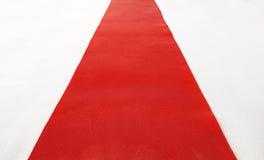 Tappeto rosso Fotografia Stock