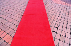 Tappeto rosso 2 Fotografia Stock Libera da Diritti