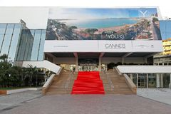 Tappeto rosso Cannes Fotografie Stock Libere da Diritti