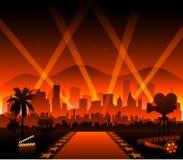 Tappeto rosso di film di Hollywood illustrazione di stock