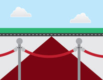 Tappeto rosso di VIP illustrazione vettoriale