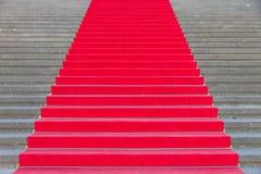 Tappeto rosso sui punti Fotografia Stock Libera da Diritti