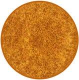 Tappeto rotondo lanuginoso nei colori marroni e gialli royalty illustrazione gratis