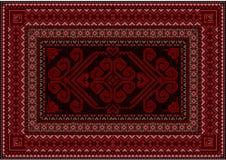 Tappeto scuro con le tonalità rosse e marroni Fotografia Stock