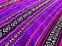 Tappeto tradizionale porpora Fotografia Stock Libera da Diritti