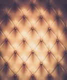 Tappezzeria del cuoio genuino Fotografie Stock Libere da Diritti