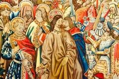 Tappezzeria del progetto del ` s di Raphael (Cappella Sistina) Fotografia Stock Libera da Diritti