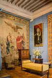 Tappezzeria della Francia del castello di Chambord Fotografia Stock