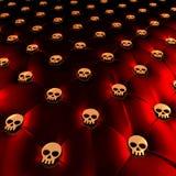 Tappezzeria di Chesterfield del lattice con i crani dorati royalty illustrazione gratis