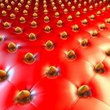Tappezzeria di Chesterfield del lattice con i cuori dorati royalty illustrazione gratis
