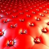 Tappezzeria di Chesterfield del lattice con i cuori dorati illustrazione vettoriale