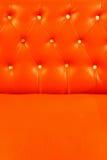Tappezzeria di cuoio arancione rossa Fotografia Stock Libera da Diritti