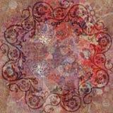 Tappezzeria floreale del Bohemian di Grunge dell'annata Fotografie Stock