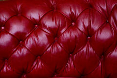 Tappezzeria rossa del cuoio genuino Fotografia Stock Libera da Diritti
