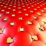 Tappezzeria rossa di simbolo della carta del gioco Immagine Stock Libera da Diritti