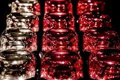 Tappi di bottiglia cosmetici brillanti fotografie stock