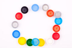 Tappi di bottiglia di plastica Fotografia Stock Libera da Diritti