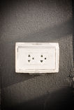 Tappi il dispositivo utilizzato per collegare i segnali elettrici ad elettrico immagine stock libera da diritti