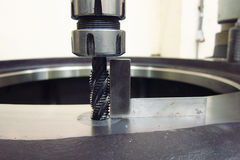Tapping process. Measure angle of Tapping process stock image