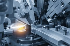 The tapping tool making machine royalty free stock images