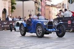 tappning 1000 för bilmigliarace arkivbild