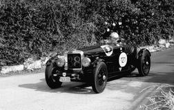 Tappning Alvis 1938 12/70 speciala tävlings- bil Arkivbild