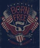Tappning Americana Eagle Graphic Royaltyfri Bild