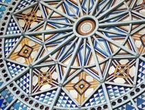 Tappning Art Deco Rose Window royaltyfria bilder