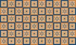 Tappning belägger med tegel bakgrund Arkivfoton