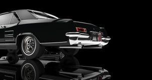 Tappning bil- Tailshot på svart bakgrund Arkivbilder