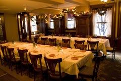 Tappning bommar för privat partirum för restaurangen Royaltyfria Foton
