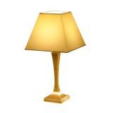 Tappning bordlägger den isolerade lampan på vit Royaltyfria Foton