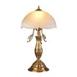 Tappning bordlägger den isolerade lampan på vit Fotografering för Bildbyråer