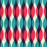 Tappning buktar seamless texturerar med grunge verkställer Arkivfoto