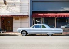 Tappning Chevy Impala fotografering för bildbyråer