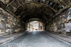 Tappning Dresden Stenvägtunnel Arkivfoton