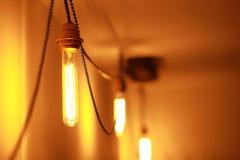 Tappning Edison Bulb Royaltyfri Fotografi