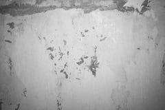 Tappning eller grungy vit bakgrund av naturlig gammal textur för cement eller för sten som en retro modell Royaltyfria Bilder