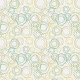 Tappning färgar krökt cirklar mönstrar - seamless ba Arkivfoton