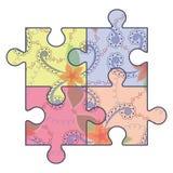 Tappning för autismpusselsimbol Fotografering för Bildbyråer