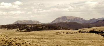 tappning för bergpanoramaområde Royaltyfria Foton